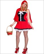 Adult Plus Size Red Riding Hood Costume ML-70510Q