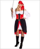 Adult Plus Size Jewel Of The Night Pirate Costume ML-70519Q