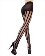 Music Legs® Vertical Stripes Panty Hose ML-7056