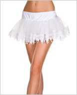 Tear Drop Lace Trimmed Petticoat ML-713-White