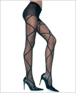 Music Legs® Sheer Designed Pantyhose ML-7199