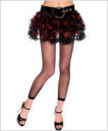 Gothic Crossbones Net Mini Petticoat ML-723