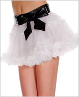 Petticoat With Vinyl Waste Band ML-730-White