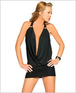 Roma Halter Slinky Cowl Neck Mini Dress RC-2701SL