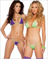 Roma Reversible Lycra Triangle Bikini Top And Thong RC-2832