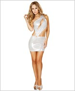 Cut out Single Shouldered Mini Dress RC-3144-White