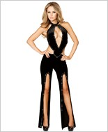 Cropped Jumpsuit with Slit Legs RC-3166