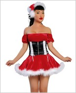 Santas Helper Two Piece Sexy Adult Costume By Roma Costume RC-C102