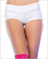 White Basic Spandex Boyshorts La-28115-White