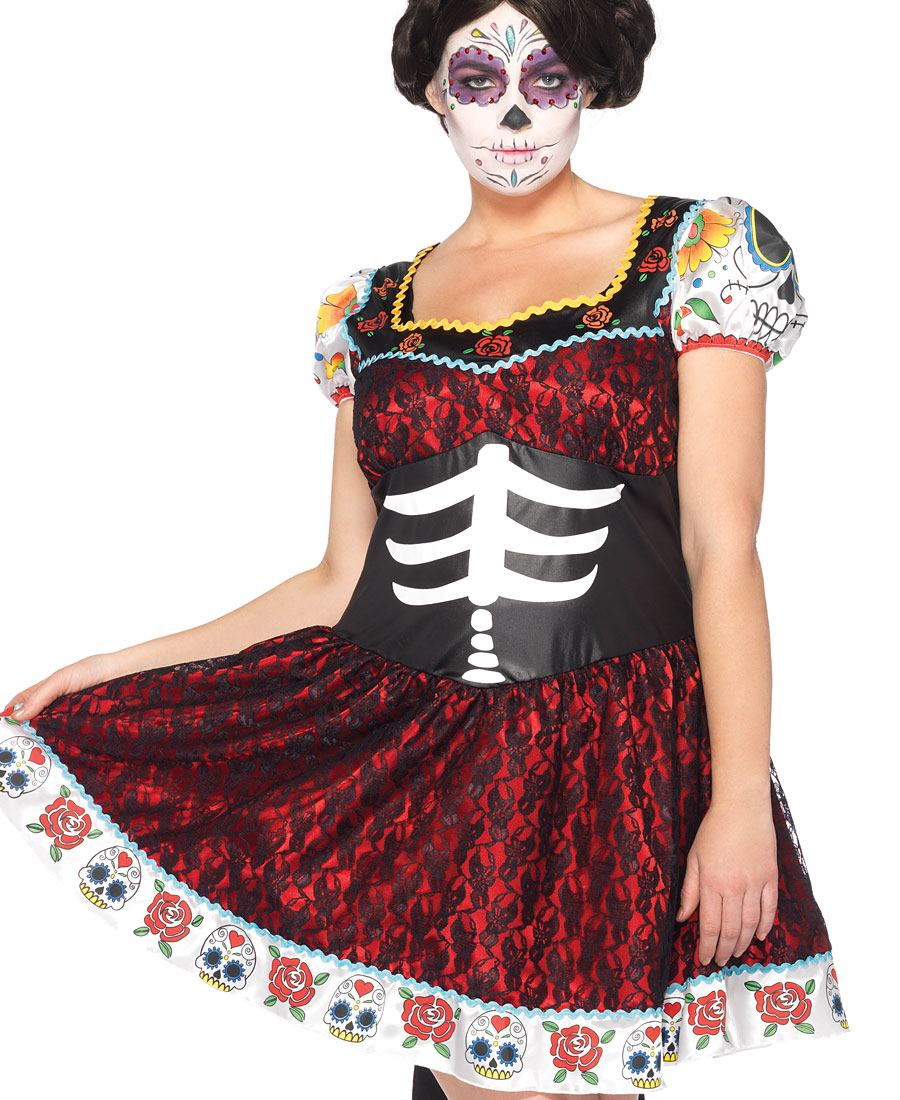 plus size day of the dead costume - oyu.armanmarine.co