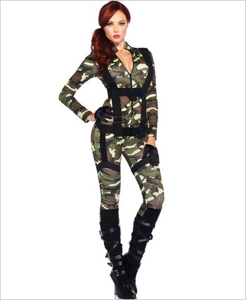 Pretty Paratrooper Adult Costume La-85166