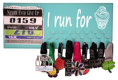 running medals holder - I run for cupcakes
