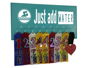 Swimming ribbon holder rack display - Just add water