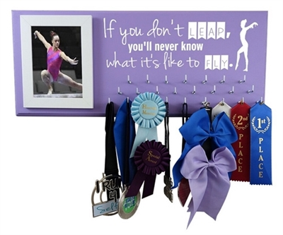 gymnastics gift gymnast equipment ribbons awards medals display leap fly