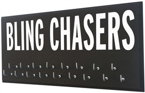 Bling chasers show off your medals rack