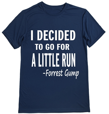 Man running shirt with Forrest Gump quote
