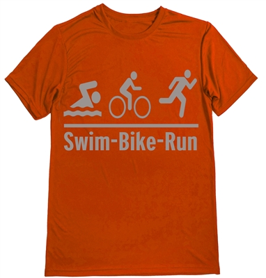 Man triathlon shirt - olympic logo