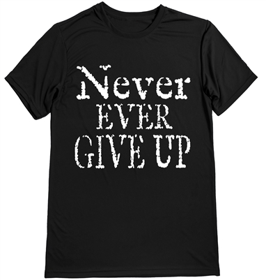 Never give up - running shirt for men