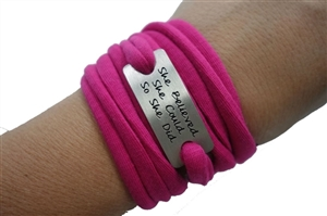 She believed she could running wristband wraps bracelets