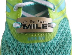 Go the extra mile  - shoe tag