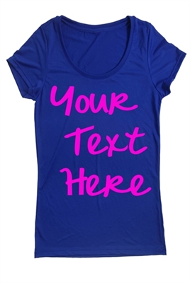 Personalized running tee top for women