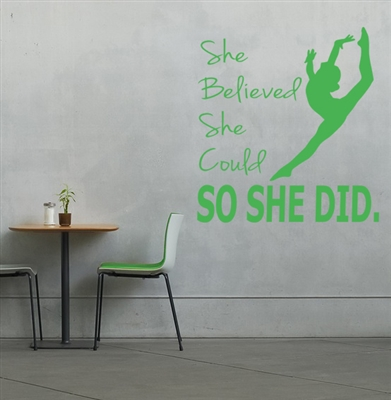 Gymnast wall decal sticker gymnastics
