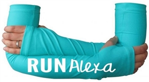 Personalized running arm warmers