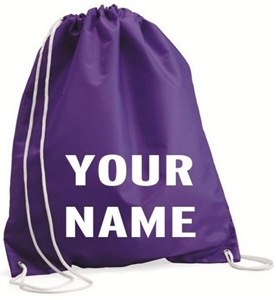 Personalized race day bag
