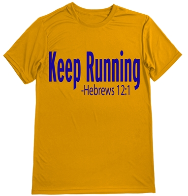 Keep Running Hebrews 12:1 - Men's shirt