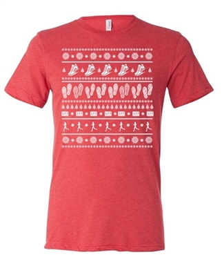 Running Ugly Christmas sweater shirt