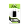 2 IN 1 Wall Charger 2.1 Amp For Apple Lightning iPhone 5/6/7/8 Black (Green PK)
