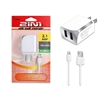 2 IN 1 Wall Charger 2.1 Amp For Apple Lightning iPhone 5/6/7 White