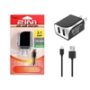 2 IN 1 Wall Charger 2.1 Amp For Micro USB V8/V9 Black