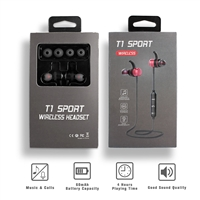 BTHF-T1 Stereo Super Base Sports Series Wireless Bluetooth Headsets
