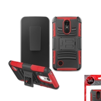 LG Aristo 2 X210/ Tribute Dynasty SP200/ K8 (2018) / ARISTO / MS210 / LV3 HOLSTER COMBO CB5C RED