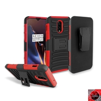OnePlus 6T Holster Combo Case CB5C Red