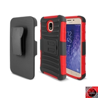 Samsung Galaxy J7 (2018)/ J7 Refine/ J7 Star /J737 Holster Combo Case CB5C Red