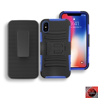 Apple iPhone X Holster Combo Hybrid Kickstand CB5C Blue