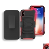 Apple iPhone X Holster Combo Hybrid Kickstand CB5C Red