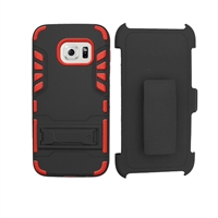 Samsung Galaxy S7 edge Holster Combo Hybrid Kickstand CB6C Red