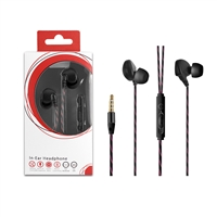 HF03-BK 3.5mm Deluxe Stereo Earbuds Headsfree Integrated Volume Control