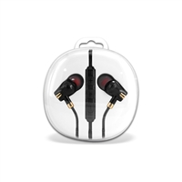 HF04-Gold 3.5mm Deluxe Stereo Earbuds Headsfree Integrated Volume Control