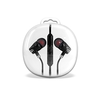 HF04-Silver 3.5mm Deluxe Stereo Earbuds Headsfree Integrated Volume Control
