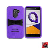 Alcatel REVVL /Walters /A30 Fierce/ 5049 Hybrid Kickstand Case HYB08 Purple