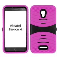 ALCATEL FIERCE 4 HYBRID CASE HYB08 HOT PINK