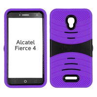 ALCATEL FIERCE 4 HYBRID CASE HYB08 PURPLE