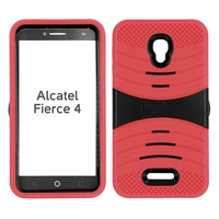 ALCATEL FIERCE 4 HYBRID CASE HYB08 RED