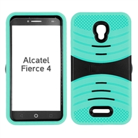 ALCATEL FIERCE 4 HYBRID CASE HYB08 TEAL
