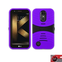 LG K20 Plus/ K20 V / Harmony / LV5 HYBRID CASE WITH SIDEWAY KICKSTAND HYB08 Purple