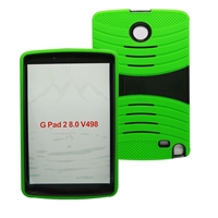 LG G Pad F 8.0 / G Pad II 8.0 Hybrid Rugged Case With Kickstand HYB08 Green